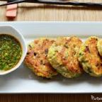 Singaporean spicy fish cakes